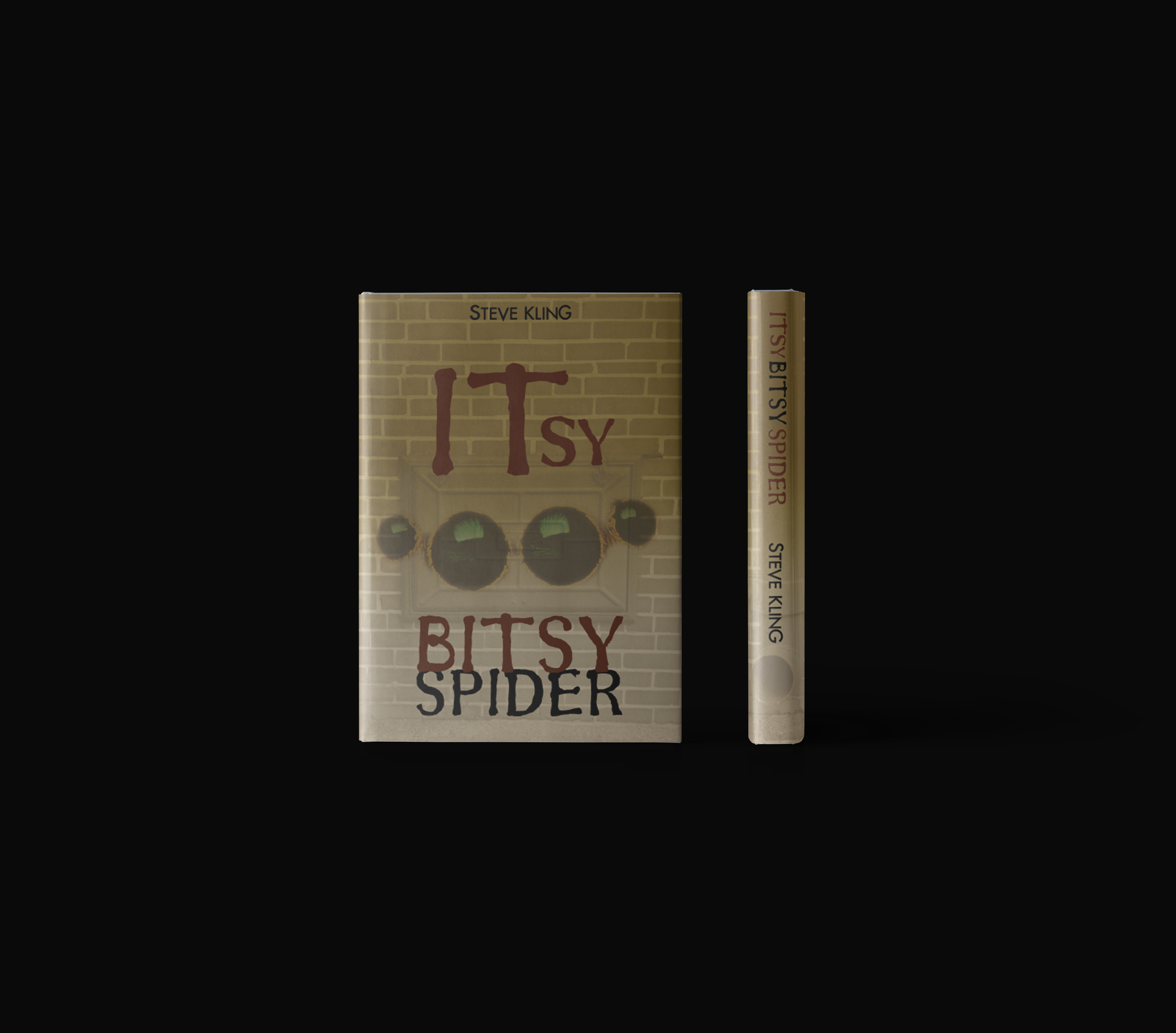 Steve Kling book cover for Itsy Bitsy Spider presented as dust jacket