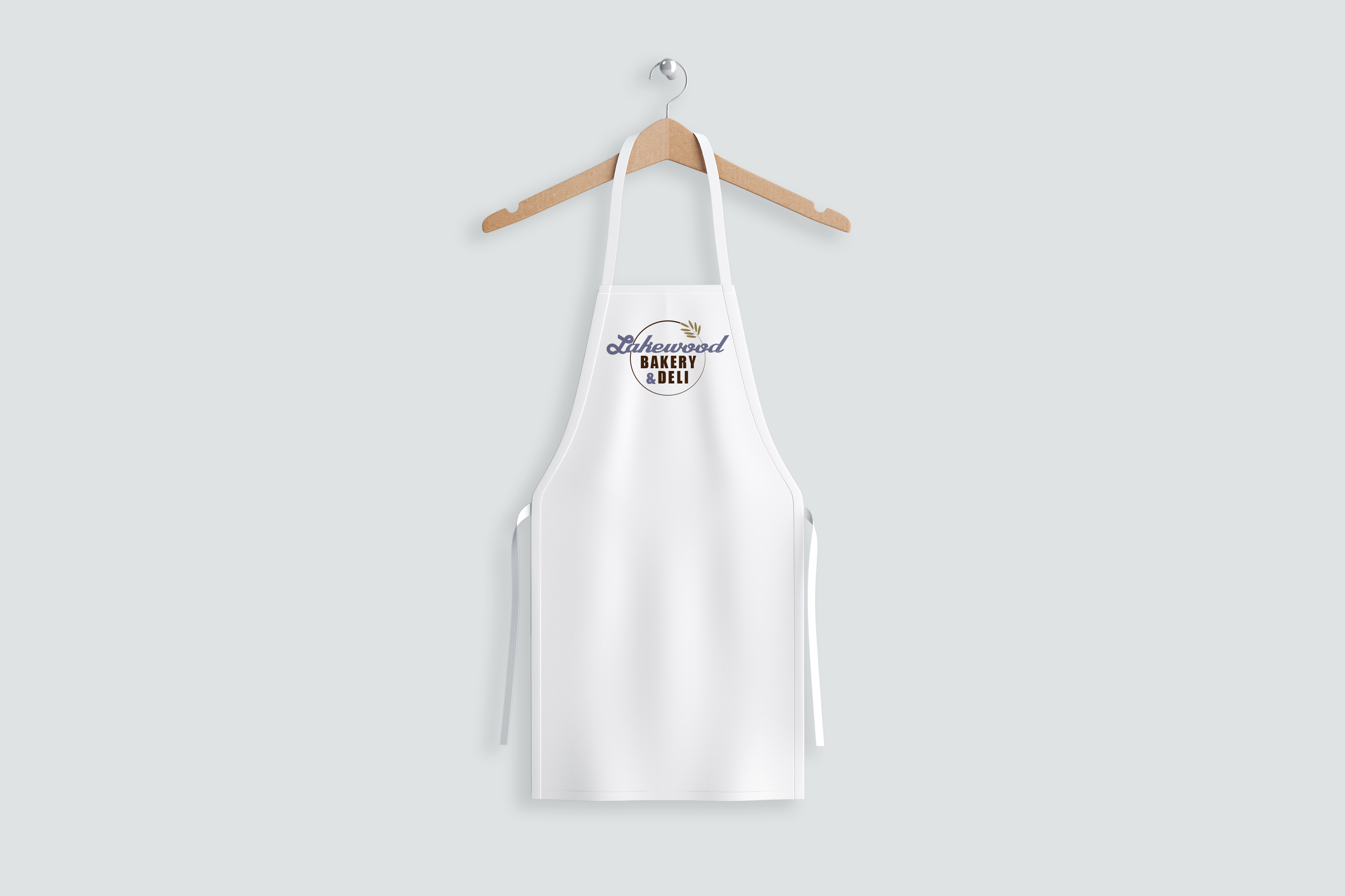 Lakewood Bakery and Deli Logo printed on apron
